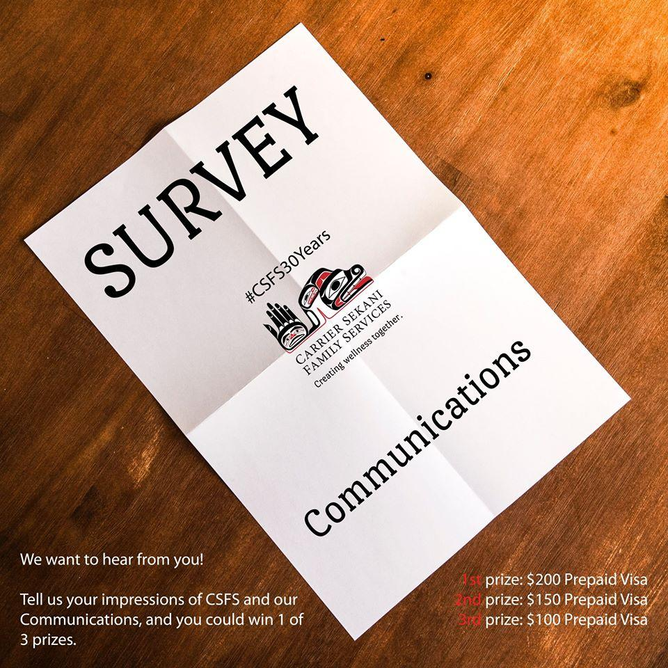 Complete this survey and enter our free draw